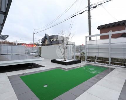 札幌市 人工芝 ゴルフパット