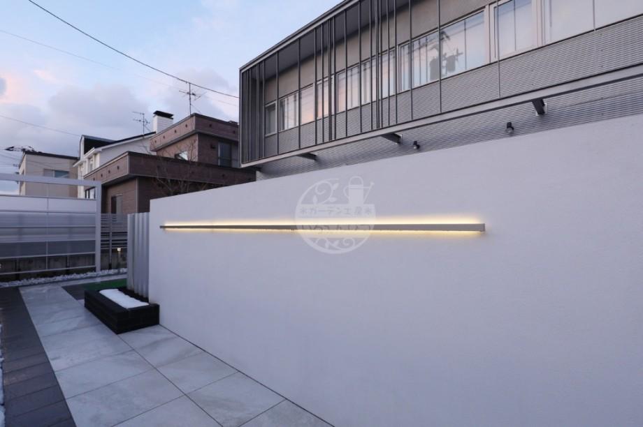 札幌市 塗壁 ラインライト