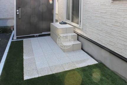 札幌市 タイル階段 ソルベ平板