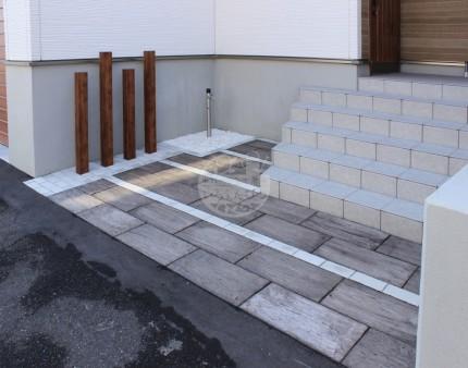札幌市 アプローチ ラインデザイン