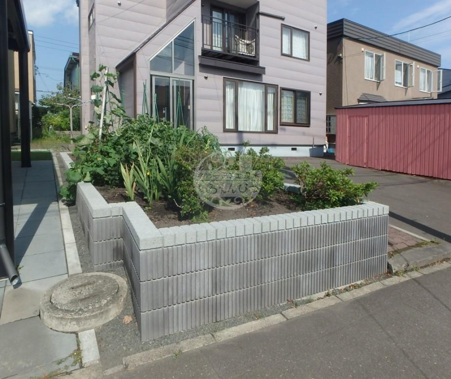 札幌市 ブロック花壇 スマートC