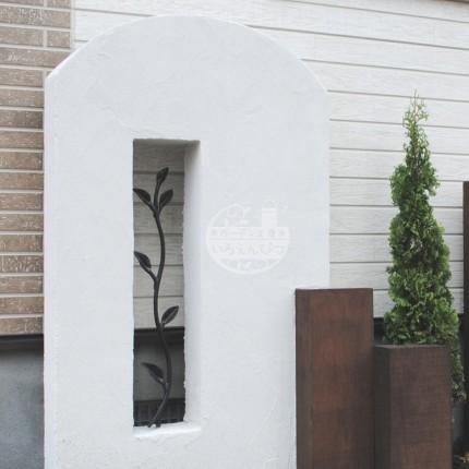 札幌市 塗壁 スリムフィックスフェンス