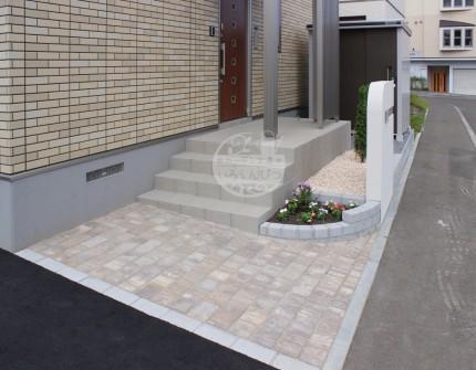 札幌市 玄関前 タイル