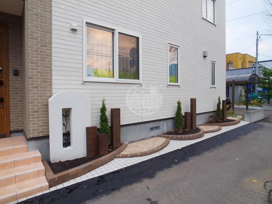 札幌市 塗壁 花壇