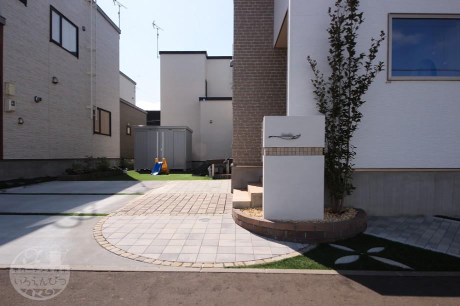 札幌 塗り壁外構