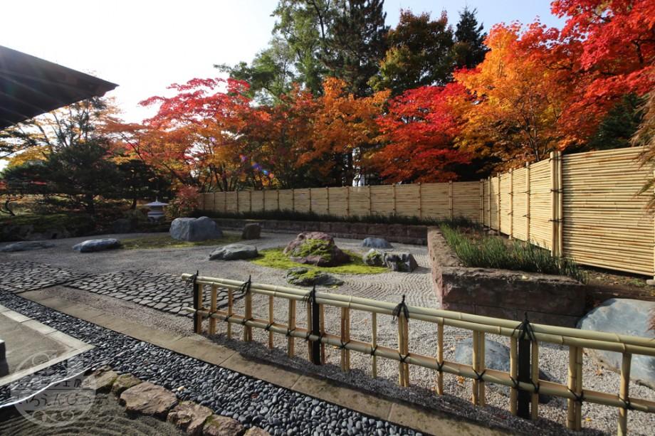 金閣寺垣 御簾垣 中島公園