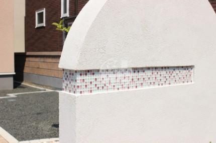 札幌市 ガラスタイル 塗壁