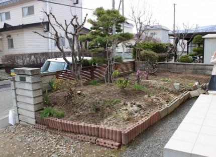 札幌市手稲区 お庭のリノベーション