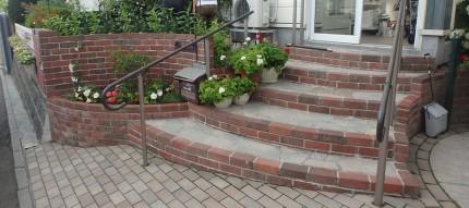 厚別区 レンガ 階段3