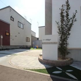 札幌 塗り壁 外構