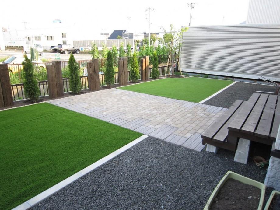 札幌市 外構 人工芝