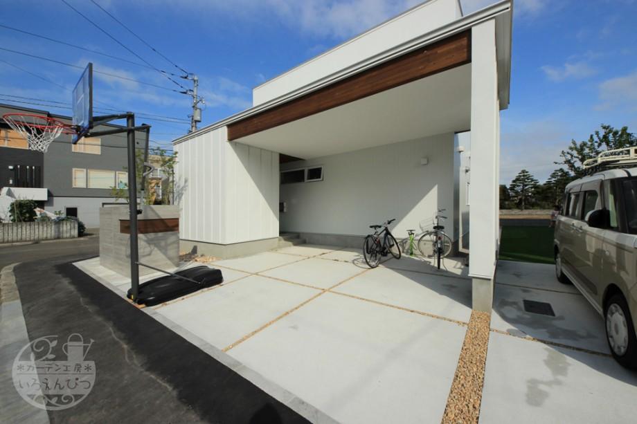 土間コンクリート 駐車スペース